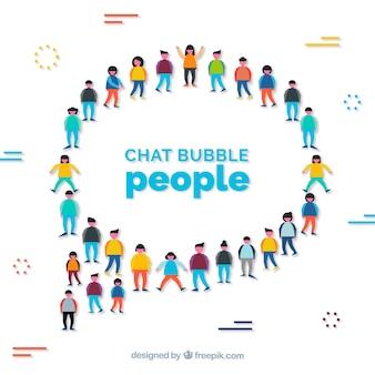 チャットバブルの人々の背景