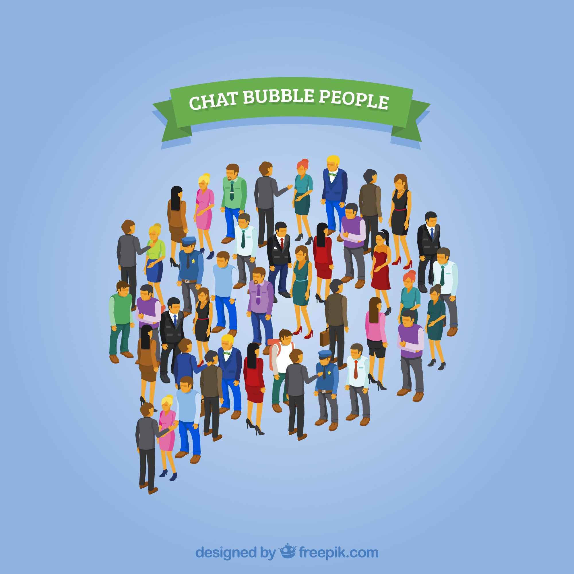 Chat bubble people design