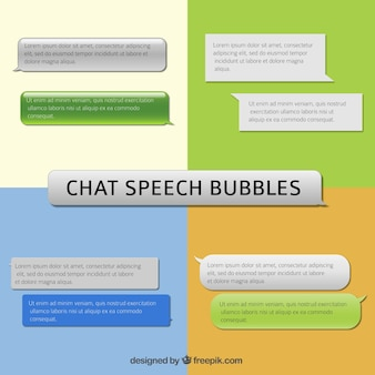 Chat speech bubbles