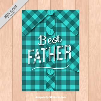 Checked shirt father's day card