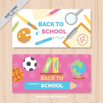 Cheerful banners for back to school