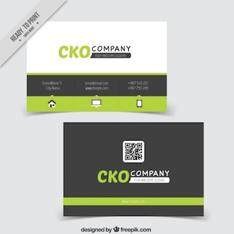 cheerful business card