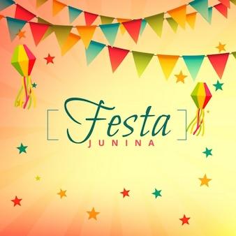 フェスタジュニーナイベント祭りのデザイン