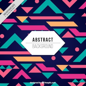 Cheerful geometric background