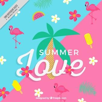 Cheerful summer background