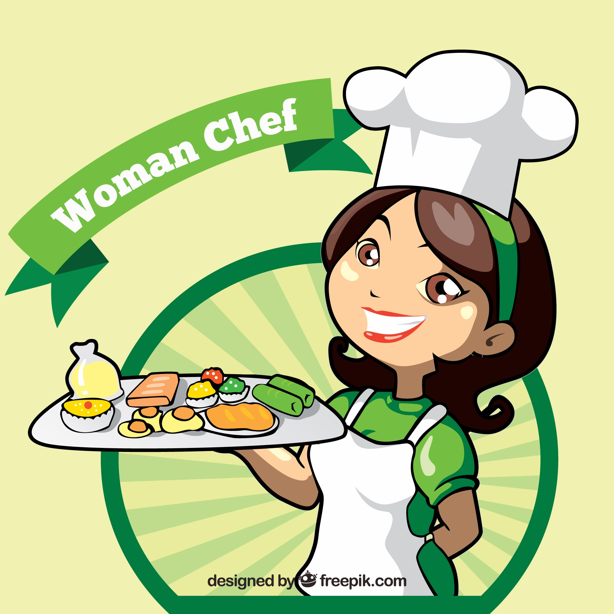Chef background with delicious appetizers