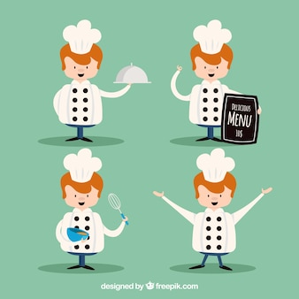 Chef character in flat design