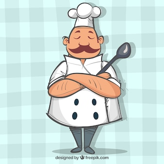Chef character with crossed arms