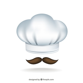 Chef hat and moustache