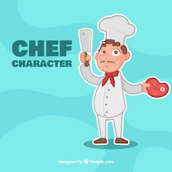 Chef in cartoon style