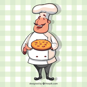 Chef's tablecloth background with chef
