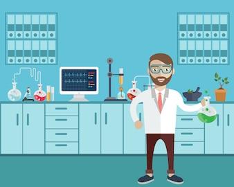 Chemistry background design