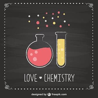 Chemistry test tubes blackboard