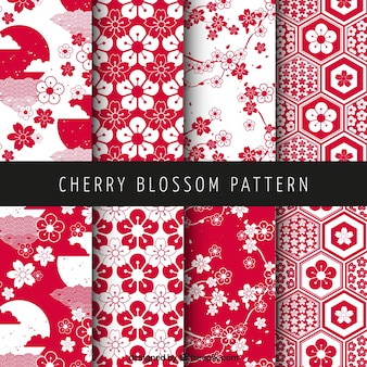 Cherry blossom patterns