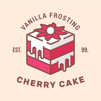 Cherry cake logo