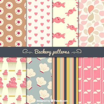 Chic bakery patterns set
