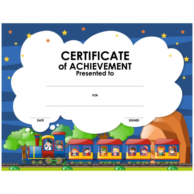 Childish certificate design
