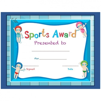 Childish sport certificate design
