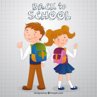 Children backpack with school backpack