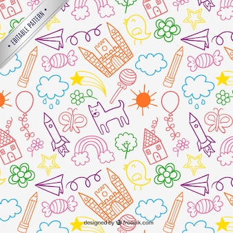 Children drawings pattern