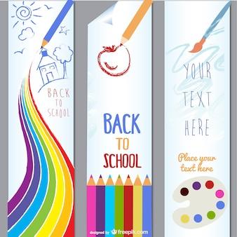 children lovely painting theme vector material