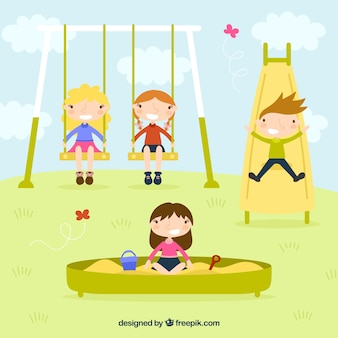 Children playing in the park
