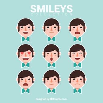 Children smileys sticker collection