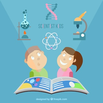 Children studying science