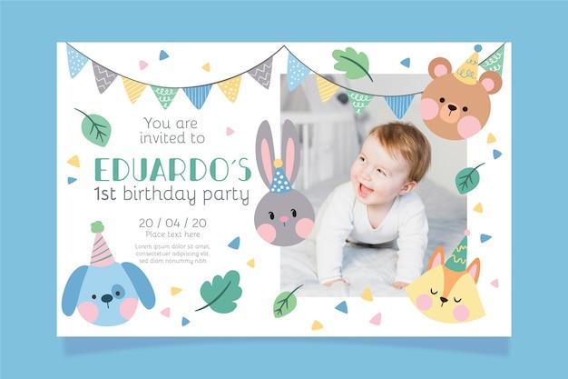 Childrens birthday invitation template