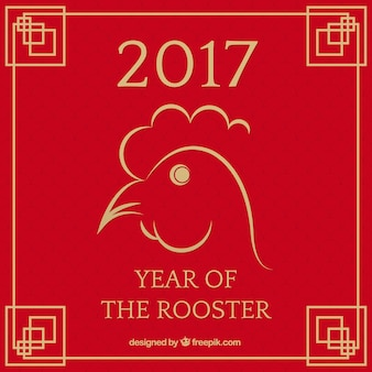 Chinese new year 2017, background with a rooster