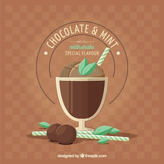 Chocolate and mint milkshake