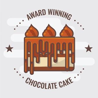 チョコレートケーキバッジロゴ