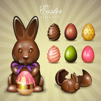 Chocolate easter elements