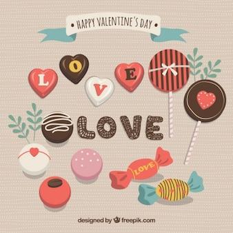 Chocolates Saint Valentine pack
