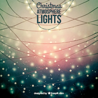 Christmas atmosphere lights background