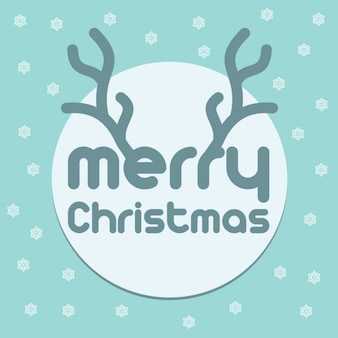 Christmas background with a nice typography