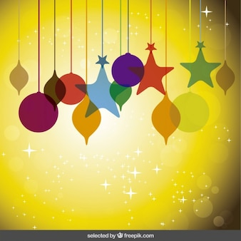 Christmas background with colorful decorations