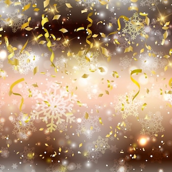 Christmas background with confettis