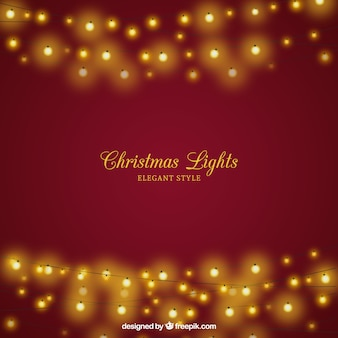 Christmas background with elegant lights