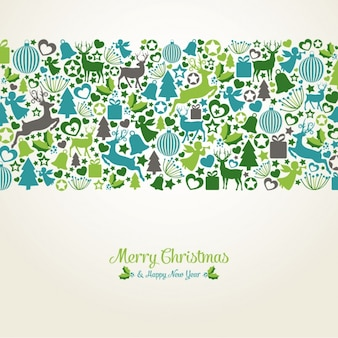 Christmas background with flat elements