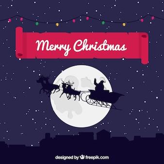 サンタと一緒にクリスマスの背景