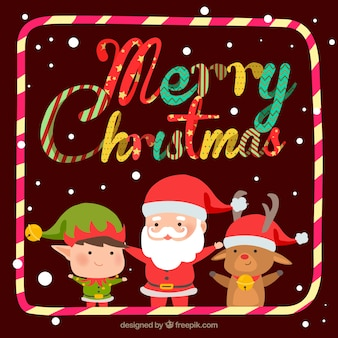 Christmas background with funny style