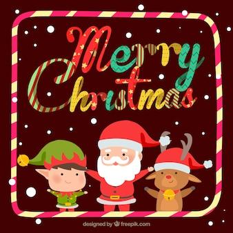 面白いスタイルのクリスマスの背景