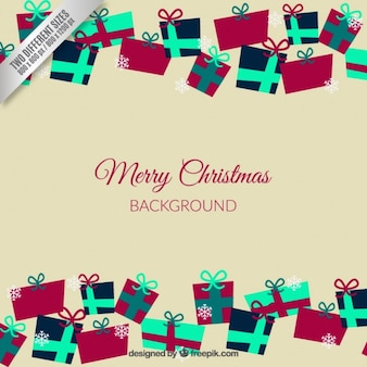 Christmas Background with Giftboxes
