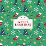 Christmas background with pattern style
