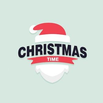 クリスマスの時期サンタクロースラベル