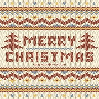 ウールスタイルのクリスマスの背景