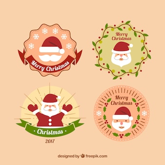 Christmas badges pack