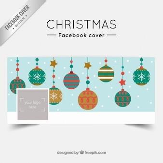 Christmas balls facebook cover