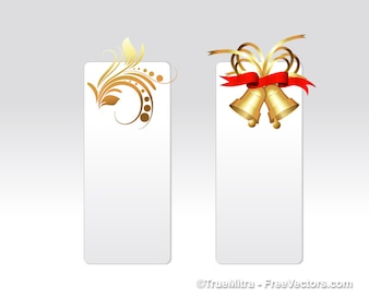 Christmas banners with ornaments